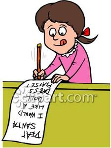 Writing a list clipart picture transparent library Girl Writing Out Her Santa Christmas List - Royalty Free Clipart ... picture transparent library