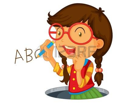 Writing abc clipart svg freeuse library 4,618 Girl Writing Cliparts, Stock Vector And Royalty Free Girl ... svg freeuse library