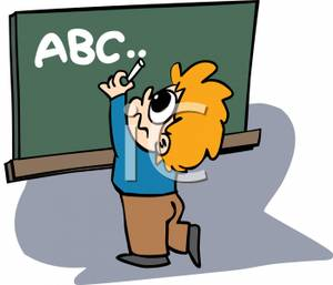 Writing abc clipart picture free stock Boy Writing Clipart | Clipart Panda - Free Clipart Images picture free stock