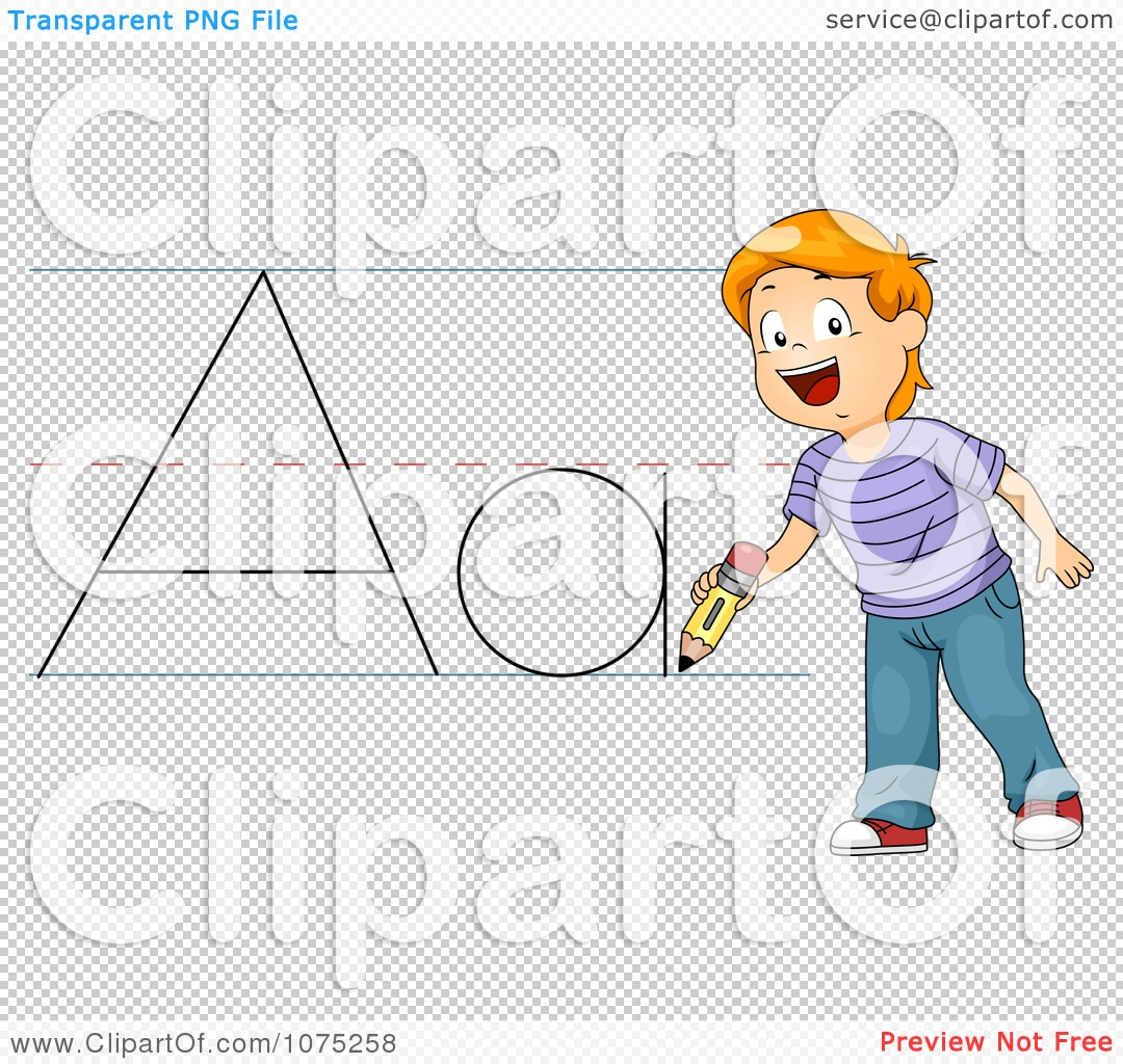 Writing abc clipart banner black and white Clipart School Boy Writing ABC - Royalty Free Vector Illustration ... banner black and white