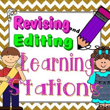 Writing and revising clipart picture black and white library Revising and Editing Stations | TpT Language Arts Lessons ... picture black and white library