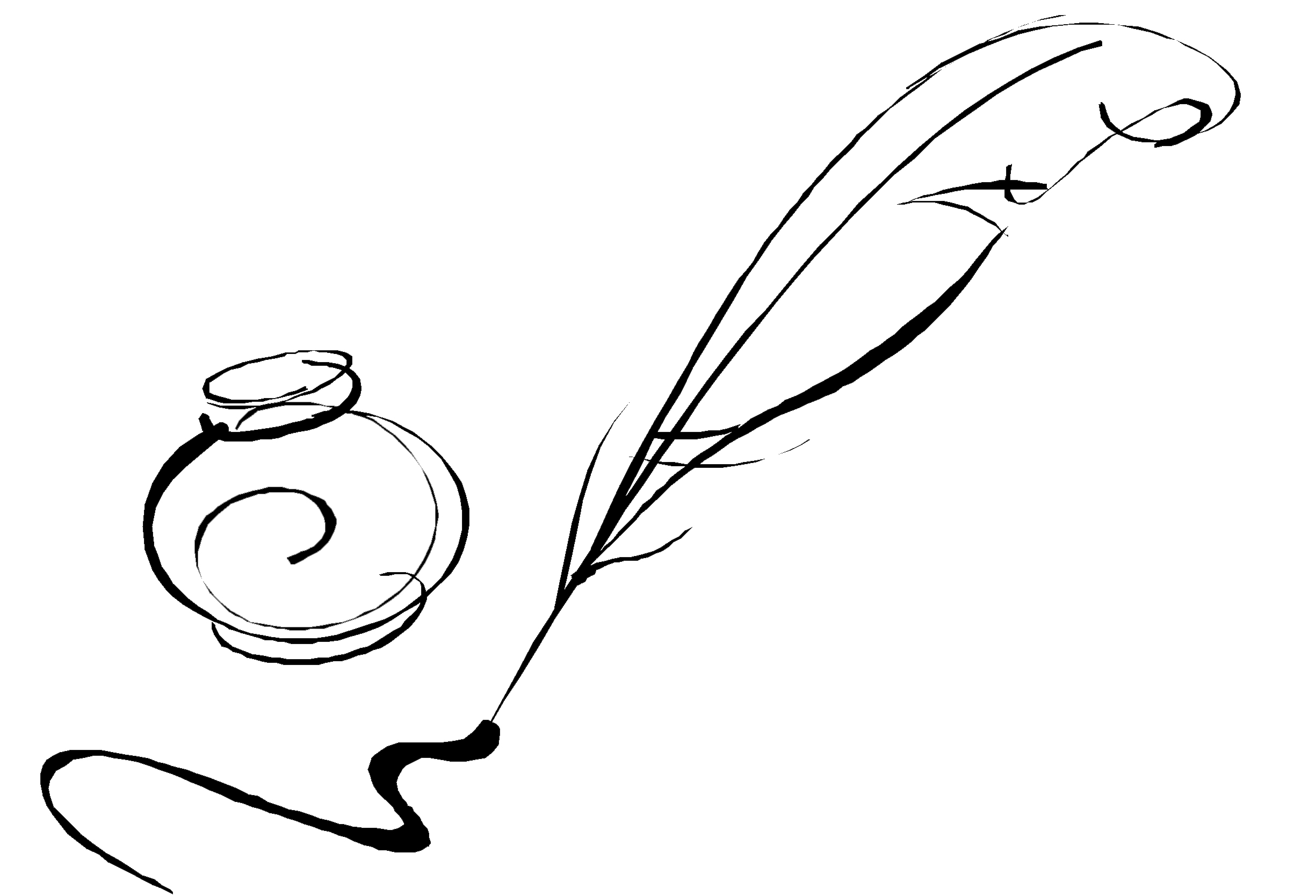 Scroll and quill clipart svg black and white library Free Cliparts Pen Drawing, Download Free Clip Art, Free Clip ... svg black and white library