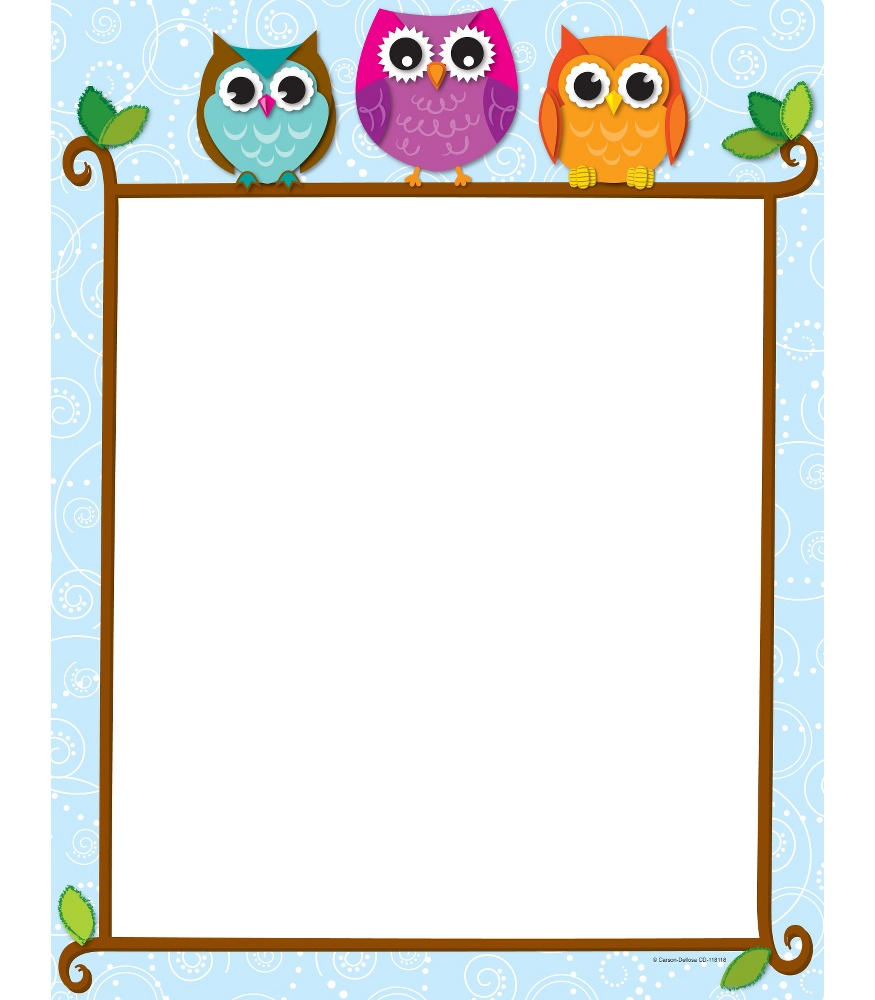 Writing clipart vborder free Owl Borders Group with 77+ items free