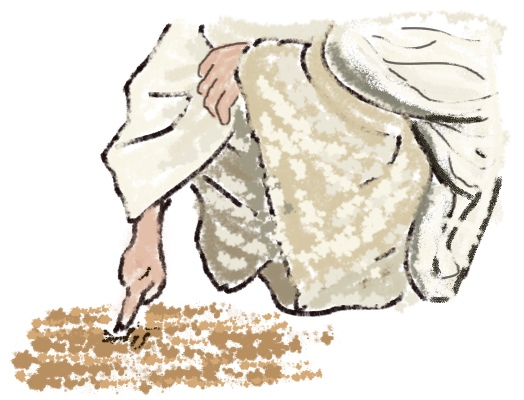 Writing in sand clipart jpg stock Why did Jesus twice write in the ground when the Jews wanted ... jpg stock