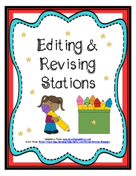 Writing stations clipart graphic stock Writing: Editing & Revising Stations graphic stock