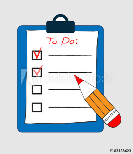 Writing to do list on clip board clipart clip transparent download To do list icon in doodle sketch lines. Office report ... clip transparent download