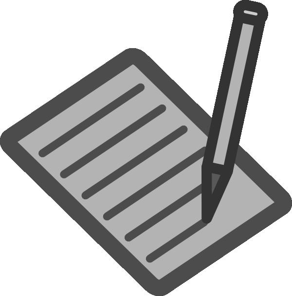 Written clipart banner library library Written Document Clip Art at Clker.com - vector clip art ... banner library library