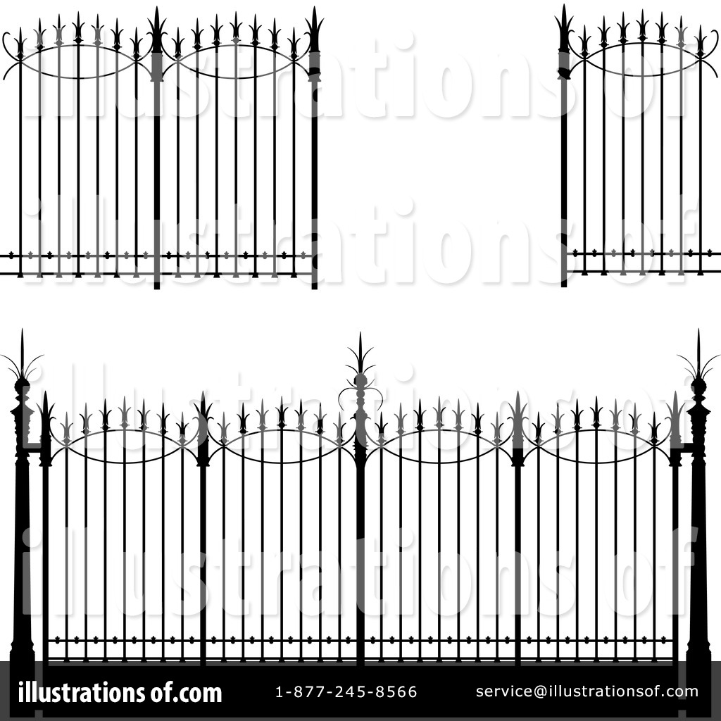 Wrought iron gate clipart clip art freeuse stock Wrought Iron Clipart #89353 - Illustration by Frisko clip art freeuse stock