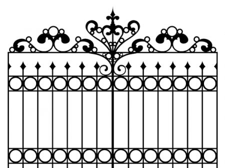 Wrought iron gate clipart svg freeuse stock wrought iron gate vector background | Cute Clipart and ... svg freeuse stock