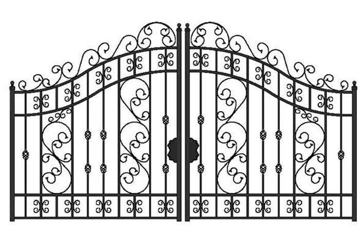 Wrought iron gate clipart clip royalty free download Wrought Iron Gate Clipart - Clip Art Library clip royalty free download