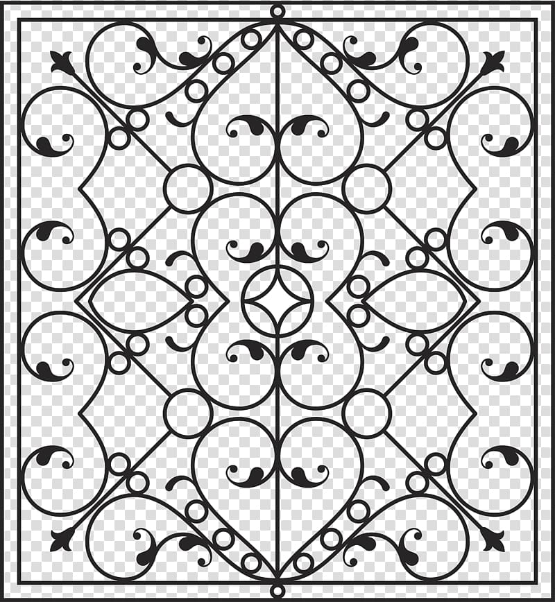 Wrought iron pattern clipart graphic freeuse Wrought iron Wall Fence, Iron pattern material transparent ... graphic freeuse