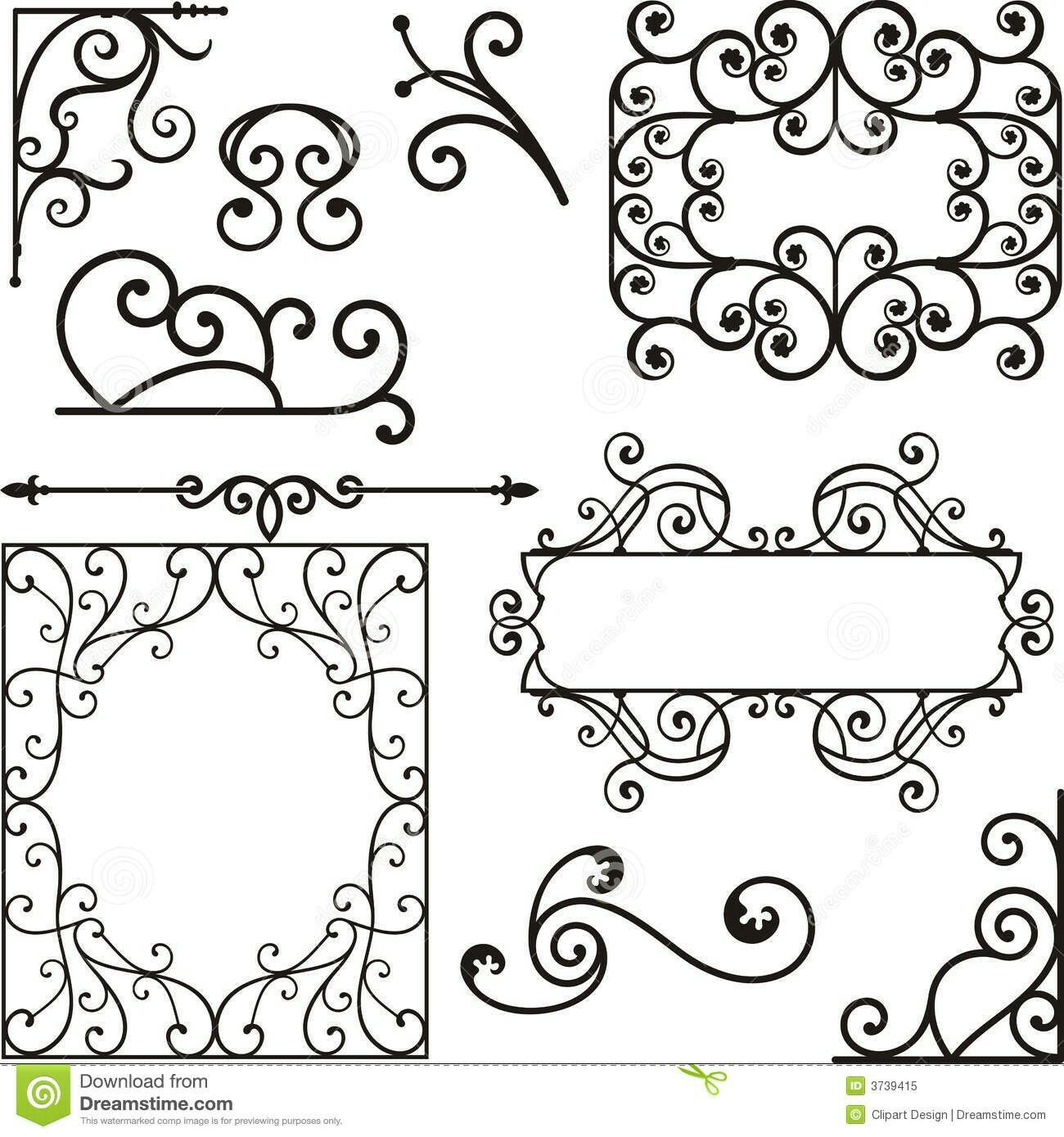 Wrought iron pattern clipart clipart transparent library Pin by Trish Thorpe on House | Wrought iron, Ornaments ... clipart transparent library