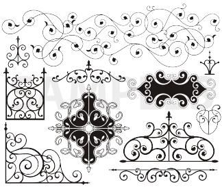 Wrought iron pattern clipart banner stock Wrought Iron | Wrought Iron banner stock