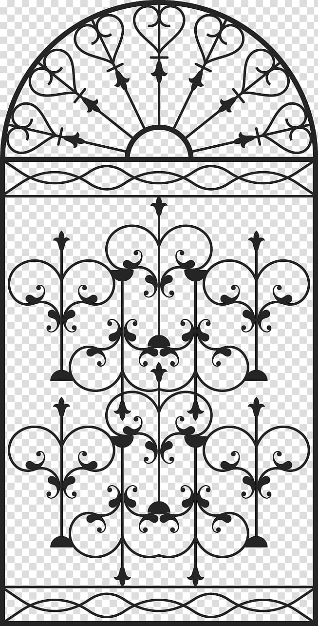 Wrought iron pattern clipart png stock Window Grille Gate Wrought iron, Continental door ... png stock