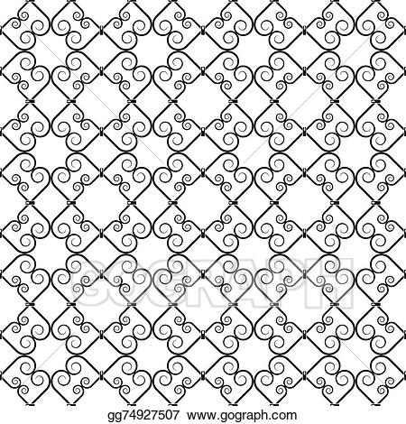 Wrought iron pattern clipart graphic transparent stock Vector Art - Wrought iron pattern. Clipart Drawing ... graphic transparent stock