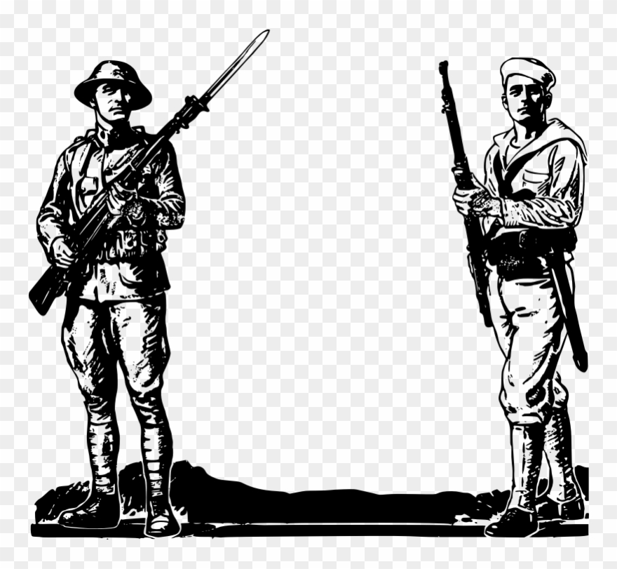 Ww1 clipart black and white banner royalty free download Soliderandsailor - World War 1 Clipart - Png Download ... banner royalty free download