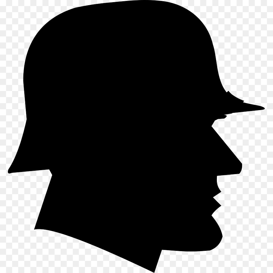 Ww1 clipart black and white image free library Soldier Silhouette png download - 847*900 - Free Transparent ... image free library