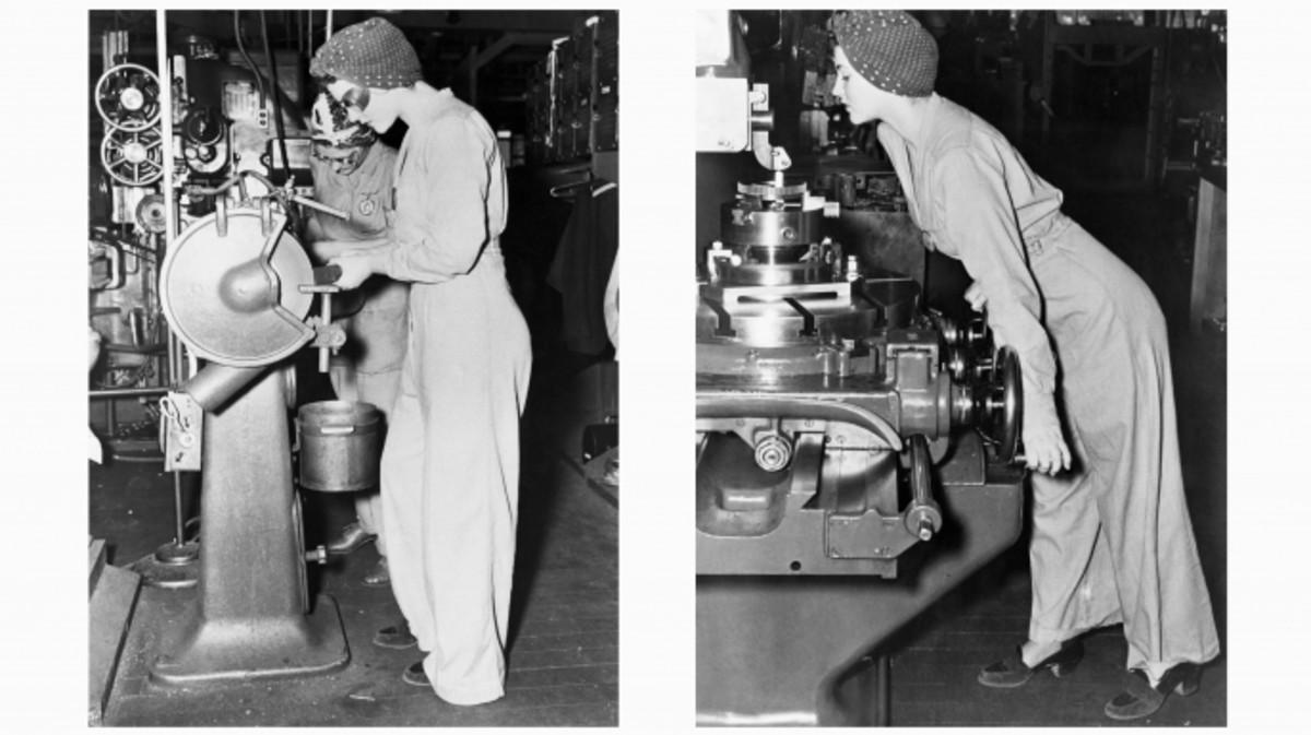 Ww1 clipart women factories vector freeuse How World War II Empowered Women - HISTORY vector freeuse