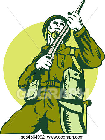 Ww2 ends clipart clip freeuse stock Stock Illustration - World war two british soldier with ... clip freeuse stock