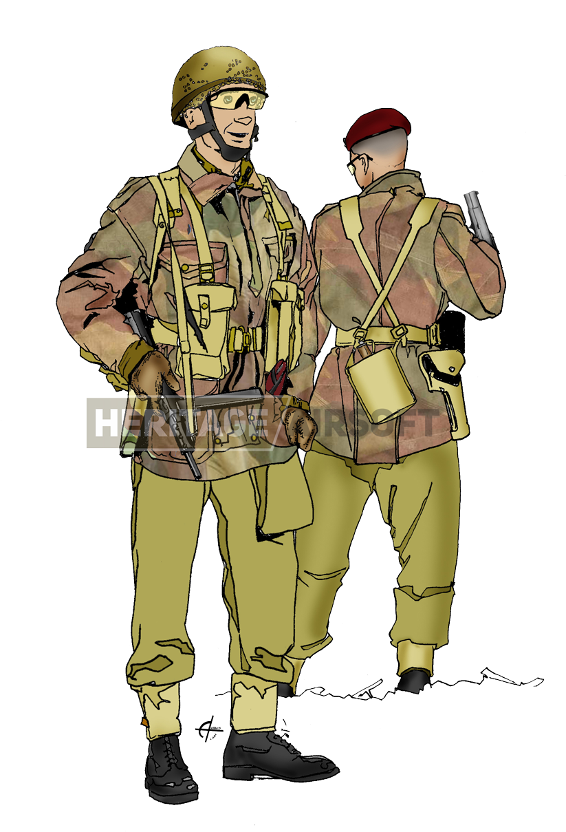 Ww2 paratrooper clipart freeuse download HD Loadout British Paratrooper Wwii - Ww2 British Airborne ... freeuse download