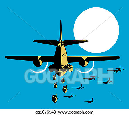 Ww2 plane bomb clipart png royalty free Stock Illustration - Airplane dropping bombs. Clipart ... png royalty free