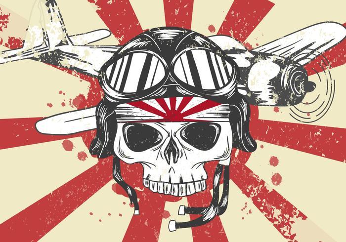 Ww2 skull clipart banner freeuse World War II Kamikaze Skull Vector - Download Free Vectors ... banner freeuse
