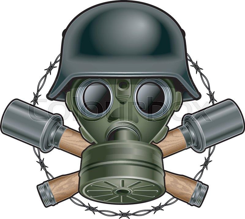 Ww2 skull clipart image royalty free library German world war 2 helmet, gasmask, ... | Stock vector ... image royalty free library