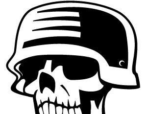 Ww2 skull clipart jpg free stock skull with soldier helmet vector | free vectors | UI Download jpg free stock