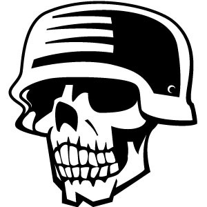 Ww2 skull clipart picture royalty free Skull And WW II Helmet Vector | free vectors | UI Download picture royalty free