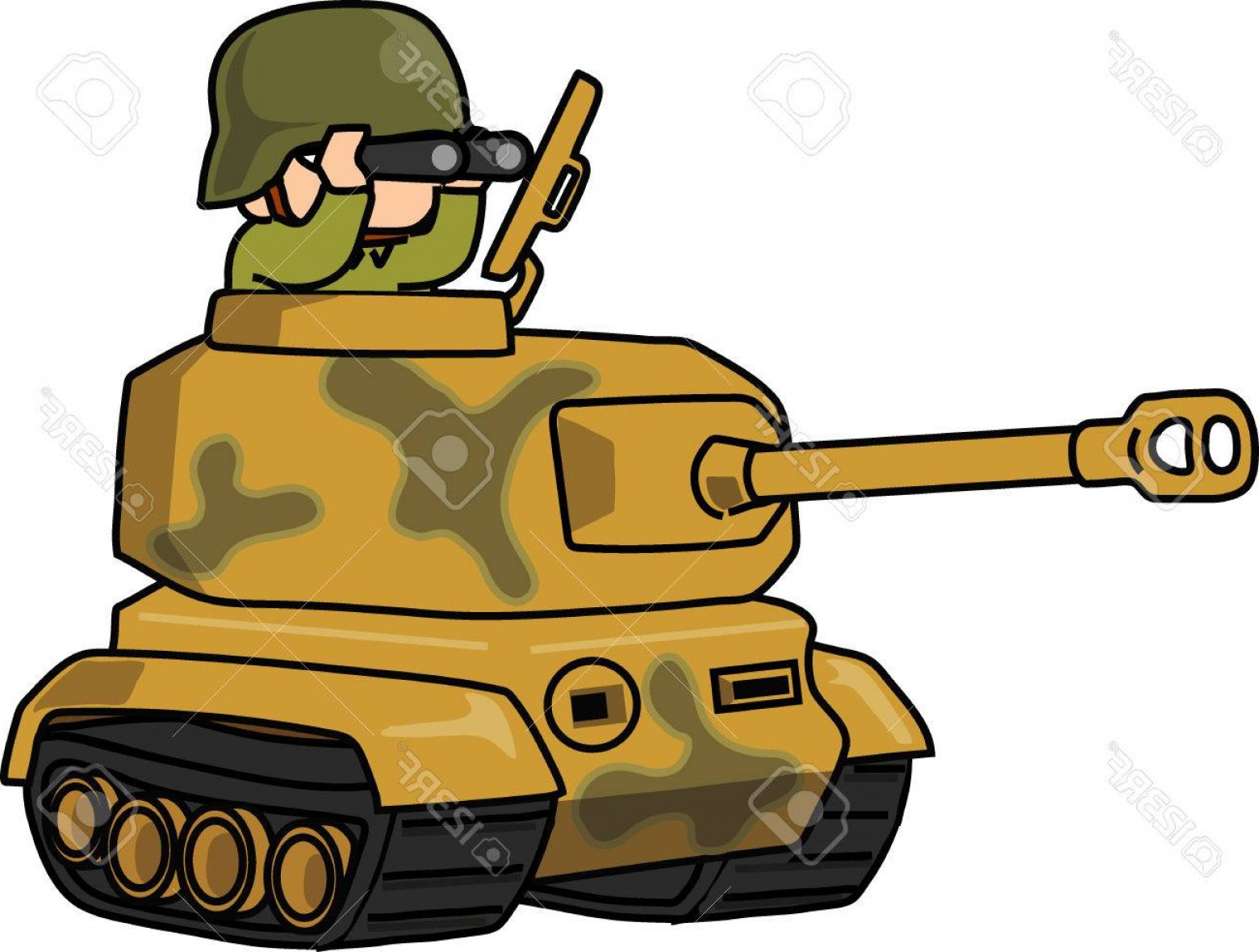 Ww2 tanks cartoon clipart clipart free download Photostock Vector Cartoon Army With Tiger Tank Vector ... clipart free download