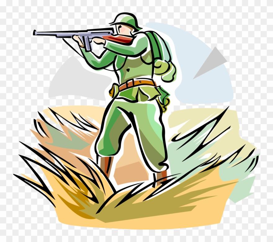 Ww1 british soldier clipart banner black and white download Vector Illustration Of World War One Wwi Soldier With - Ww1 ... banner black and white download