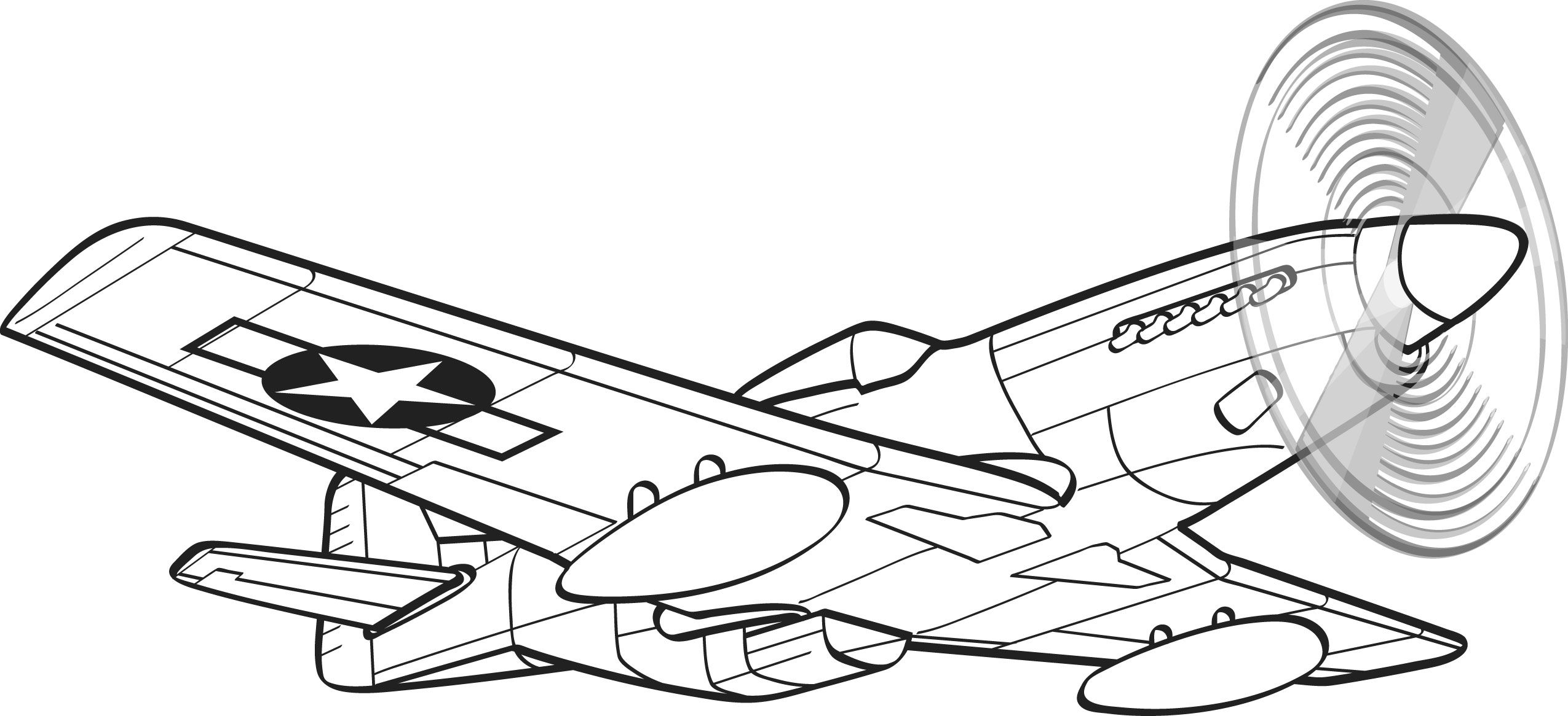 Wwii aircraft clipart p51 jpg black and white plane tattoo designs | worked very hard to create cool and ... jpg black and white