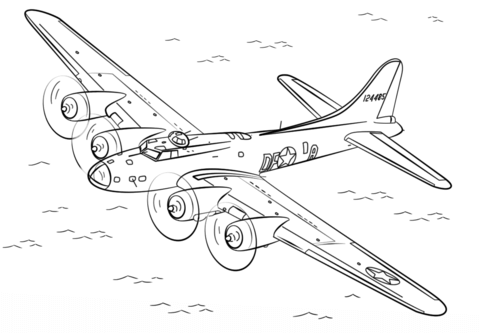 Wwii b-17 flying fortress clipart