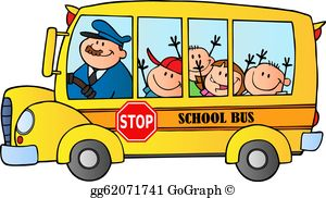 Www clipart school bus banner library library School Bus Clip Art - Royalty Free - GoGraph banner library library