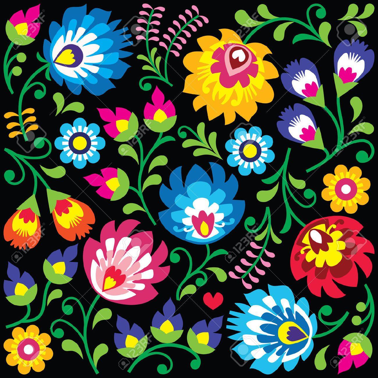 Wycinanki clipart image free library Stock Vector | Art | Polish folk art, Pattern art, Folk ... image free library