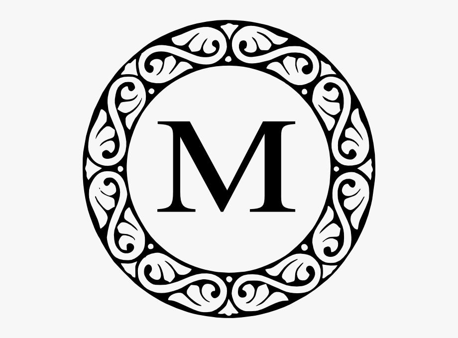 X clipart monogramh vector stock M Black Scroll Svg Clip Arts 588 X 599 Px - Letter F ... vector stock