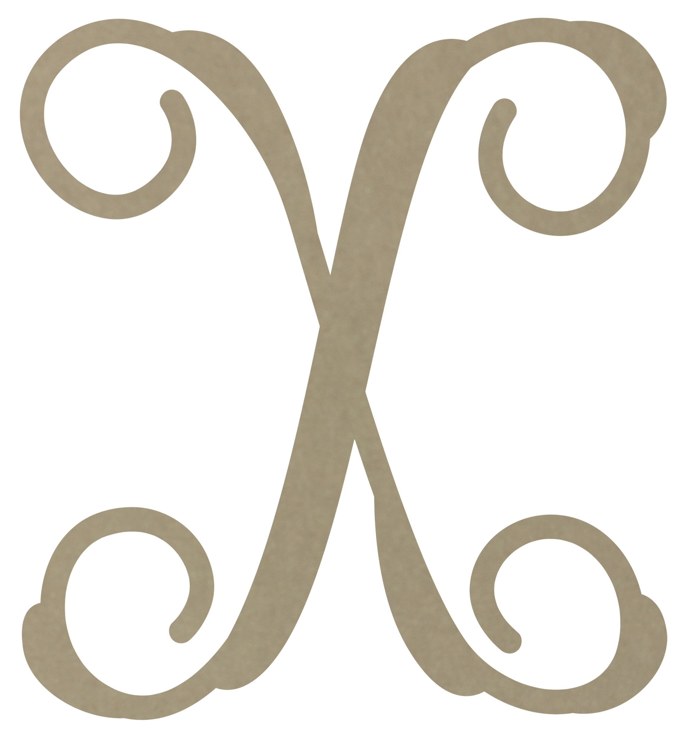 X clipart monogramh banner freeuse download 12\