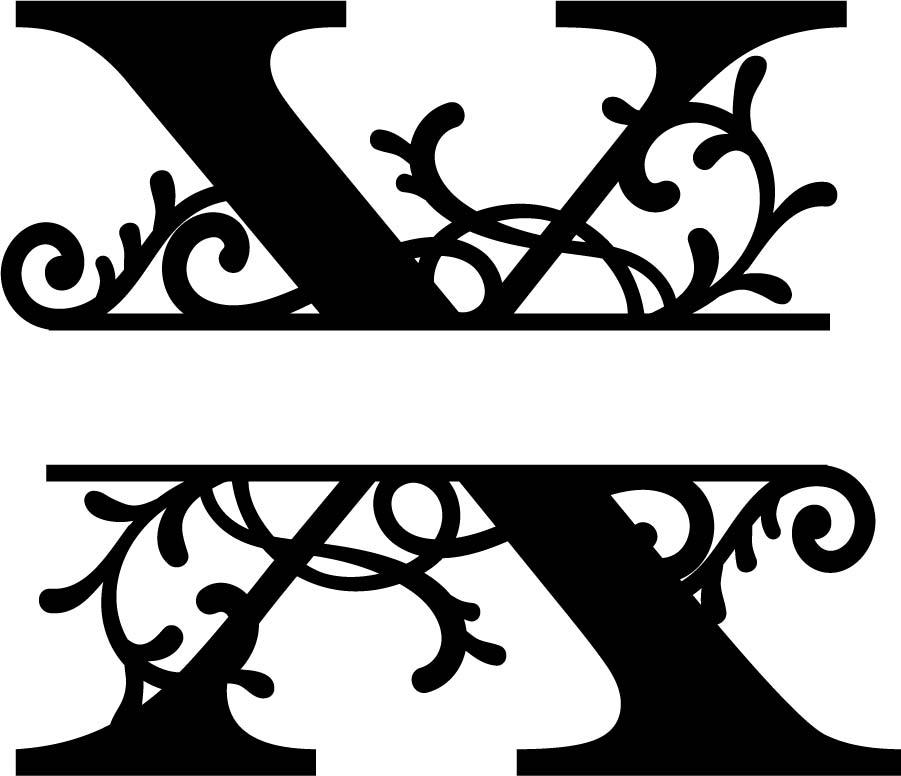 X clipart monogramh jpg black and white download X clipart monogram for free download and use images in ... jpg black and white download