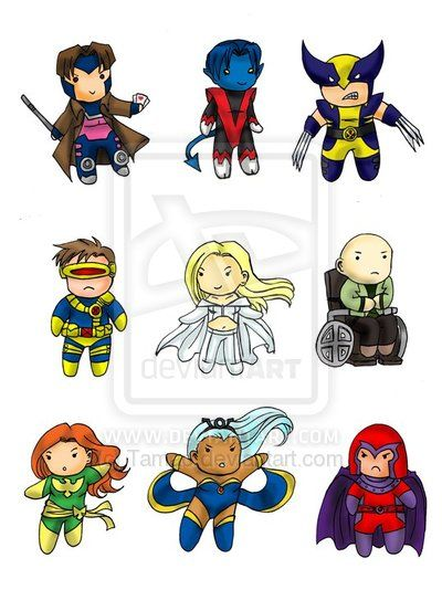 X-men clipart x svg black and white X-Men Chibi Set by Tamao.deviantart.com on @deviantART ... svg black and white