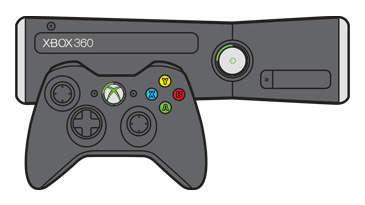 Xbox 360 console clipart vector freeuse library How to Connect an Xbox 360 Controller to your Xbox 360 vector freeuse library