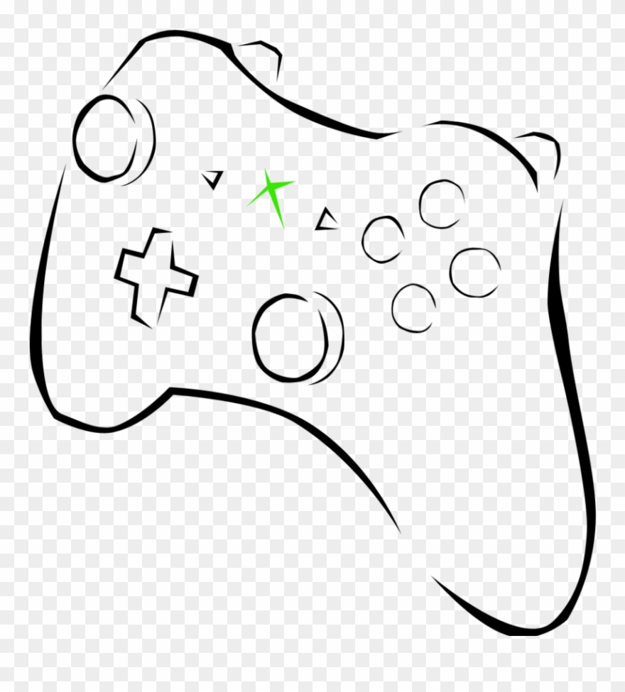 Xbox controller drawing clipart picture library download Xbox Clipart Free Download Clip Art On Black And White ... picture library download