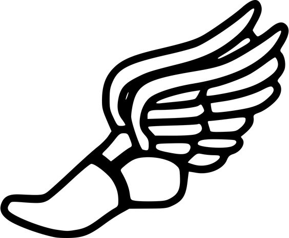 Xc clipart with arrow vector free download Running shoe track shoes with wings clipart | coloring and ... vector free download