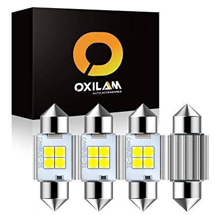 Xenon bulb clipart clip art free download OXILAM 31mm Festoon LED Bulbs CANBUS Error Free 6000K Xenon White 1.25\'\'  DE3021 3022 DE3175 LED Bulb with High Power 3030 SMD Chipsets for Interior  ... clip art free download