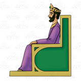 Xerxes i clipart clip King Xerxes, sitting on throne clip