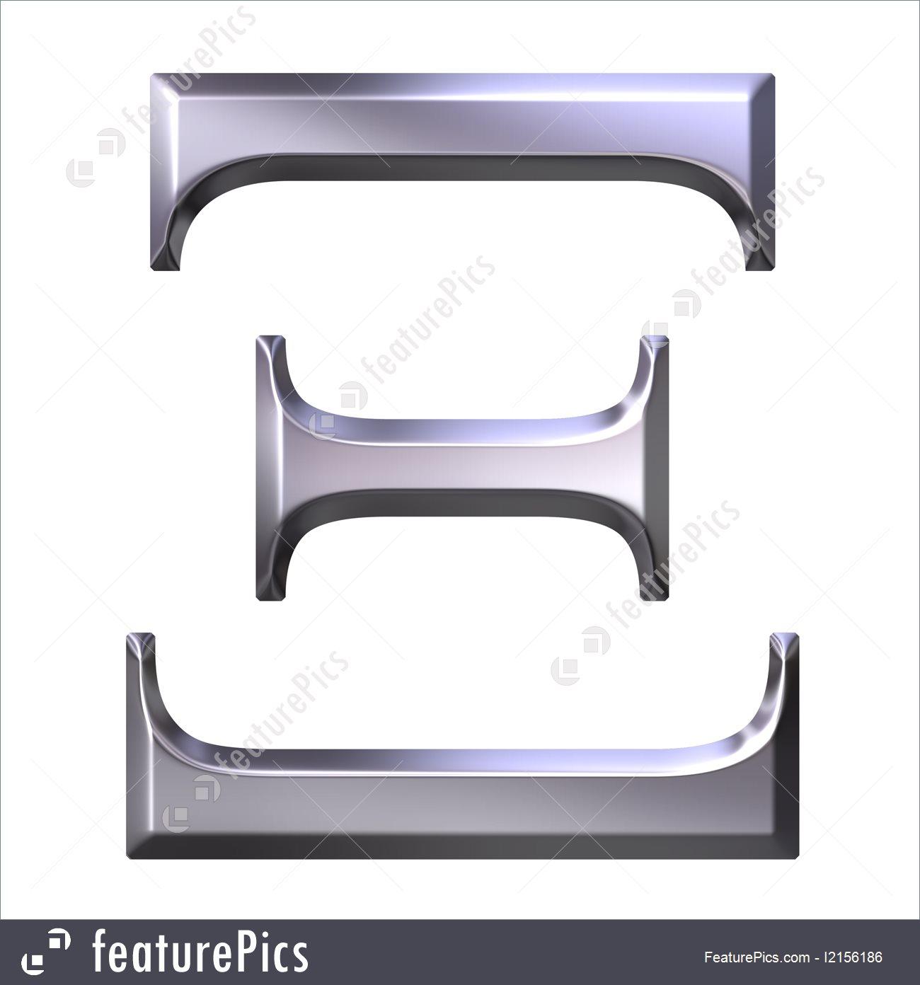Xi greek letter clipart svg freeuse stock 3D Silver Greek Letter Xi Illustration svg freeuse stock