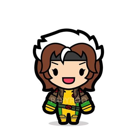 X-men clipart rogue image library library Classic Rogue has a weird hair style. #rogue #mutant ... image library library