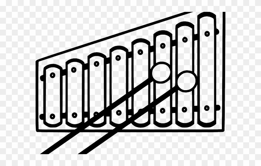Xylophone black and white clipart jpg download Xylophone Clipart Outline - Xylophone Black And White - Png ... jpg download