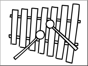 Xylophone black and white clipart picture library download Xylophone clipart black and white 1 » Clipart Station picture library download