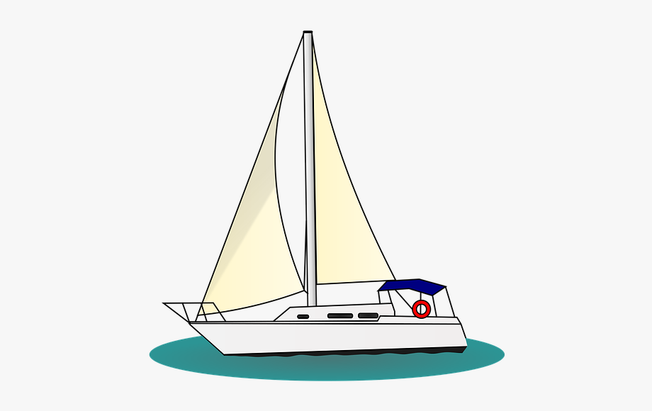 Yacht clipart vector black and white Boat Sailing Sail Ship Nautical Sea Water - Yacht Clipart ... vector black and white