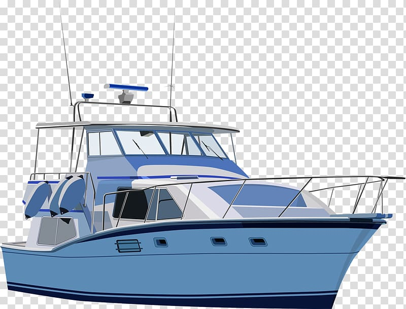 Yacht clipart ppng jpg download White and blue yacht against blue background, Yacht ... jpg download